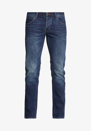 DAREN BUTTON FLY - Straight leg jeans - intense blue
