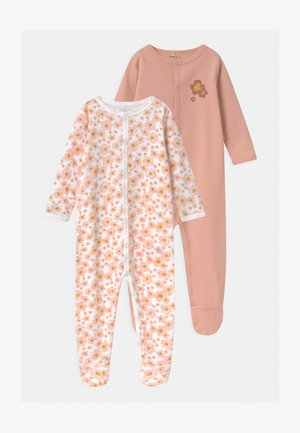 NBFNIGHTSUIT 2 PACK - Sleep suit - silver pink