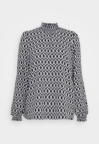 ONLY - ONLWINNER HIGHNECK - Blouse - black/graphic circle - 0