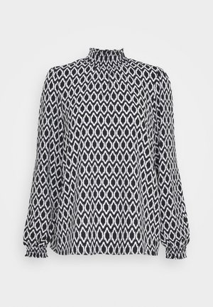 ONLWINNER HIGHNECK - Long sleeved top - black/graphic circle