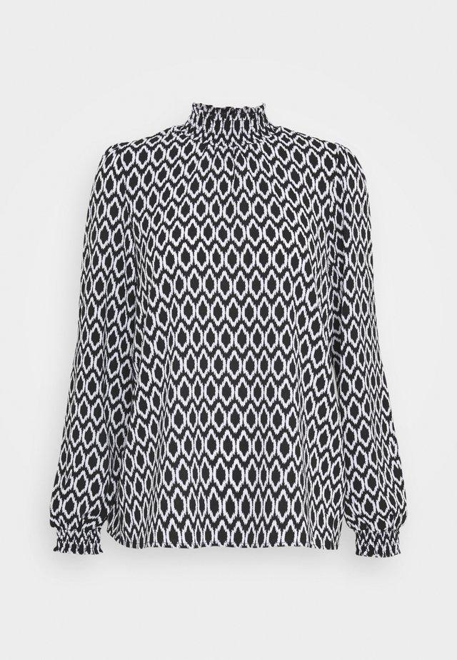 ONLWINNER HIGHNECK - Bluzka z długim rękawem - black/graphic circle