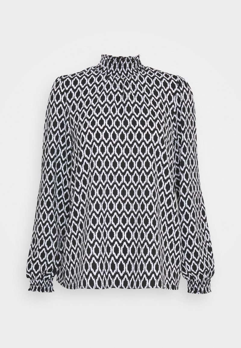 ONLY - ONLWINNER HIGHNECK - Blouse - black/graphic circle