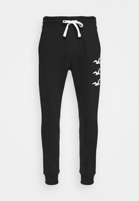 Hollister Co. - ICONIC PRINT JOGGER - Tracksuit bottoms - black stack gull - 3