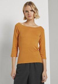 TOM TAILOR DENIM - CARMEN - Long sleeved top - orange yellow - 0