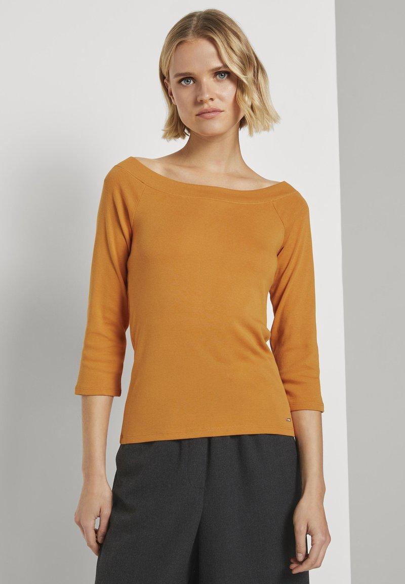 TOM TAILOR DENIM - CARMEN - Long sleeved top - orange yellow