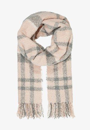 TARTAN SCARF - Sjaal - pink/grey