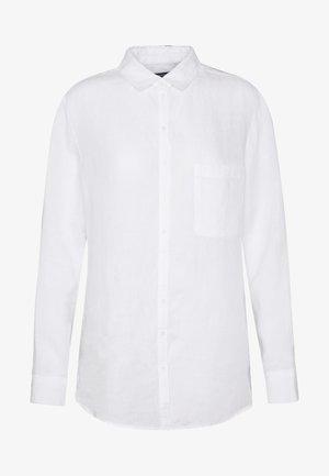 BLOUSE LONG SLEEVED EASY SHAPED - Camisa - white