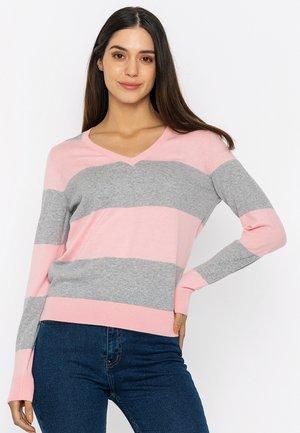 Sweatshirt - pink grey