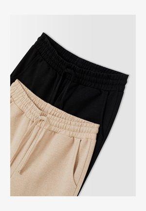 2 PACK - Tracksuit bottoms - beige