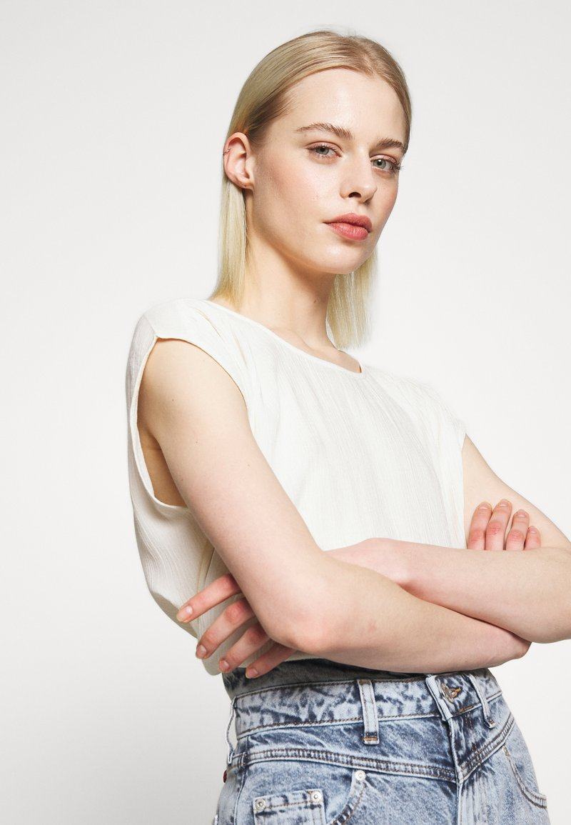 Soaked in Luxury ZAYA - Bluse - whisper white/offwhite SMUMxy
