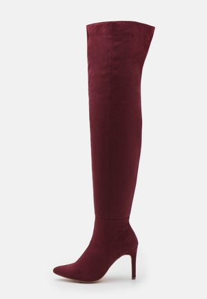 MID HEEL OVER THE KNEE BOOTS - High heeled boots - brown