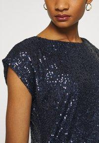 Dorothy Perkins - SEQUIN TEE - Print T-shirt - navy - 5