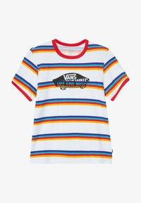 Vans - STRIPE - T-shirt z nadrukiem - white/caribbean sea - 2