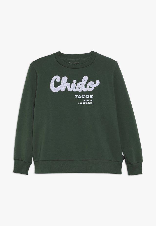 CHIDO - Collegepaita - bottle green/lilac