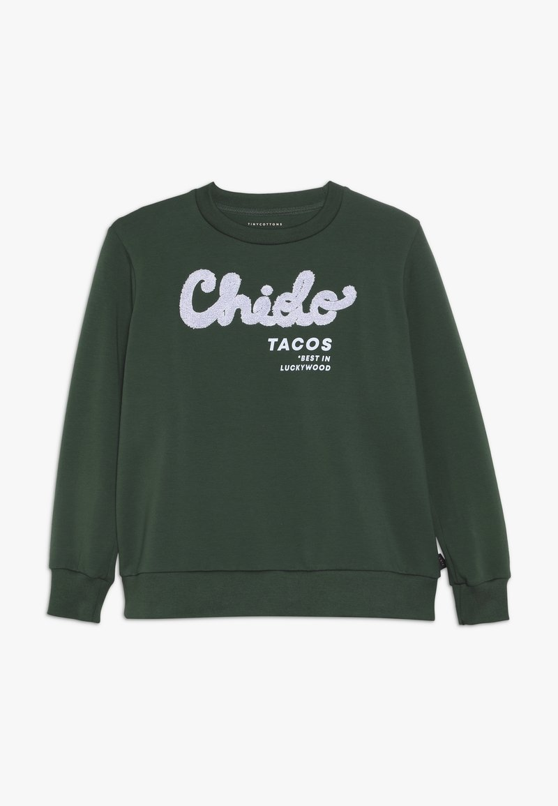 TINYCOTTONS - CHIDO - Sudadera - bottle green/lilac