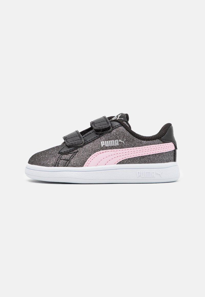 Puma - SMASH GLITZ GLAM - Tenisky - black/pink lady