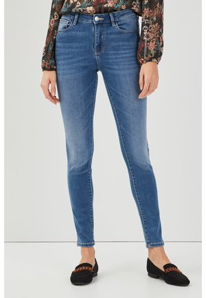 PUSH UP - Jeans Skinny Fit - denim bleach