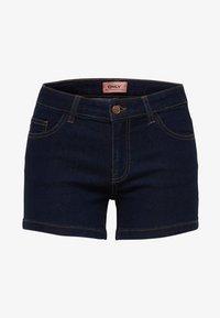 ONLY - CARMEN REG - Denim shorts - dark blue denim - 4