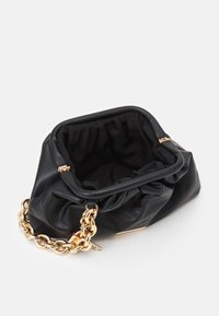River Island - CHUNKY CHAIN ROUCHED BAG - Handbag - black - 2