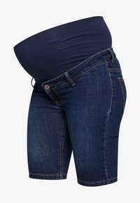 ohma! - BERMUDA WITH HIGH BELLY - Shorts - dark indigo - 3