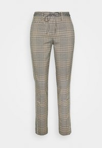Opus - MORIEL MIXED CHECK - Trousers - sandshell - 3
