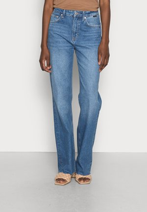 VICTORIA - Jeans straight leg - dark blue denim