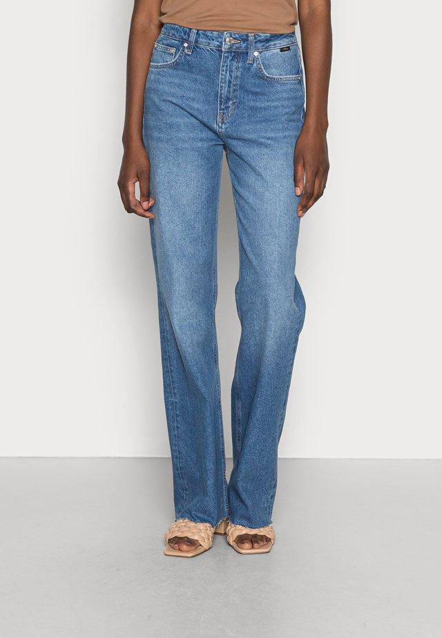VICTORIA - Straight leg jeans - dark blue denim