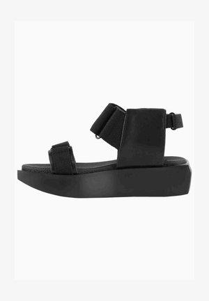 Wedge sandals - noir