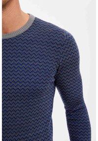 DeFacto - Stickad tröja - blue - 3