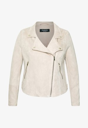 BIKER JACKET - Faux leather jacket - stone