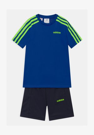SET UNISEX - Sports shorts - royal blue/signal green