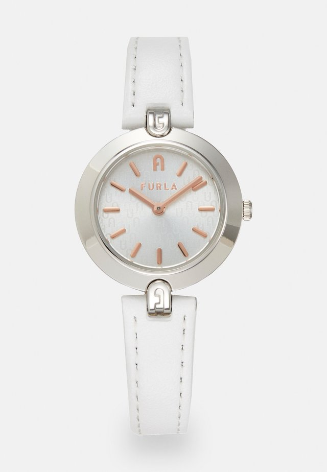 FURLA LOGO LINKS - Montre - white/silver-coloured