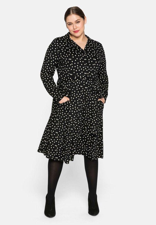 Vestito di maglina - schwarz bedruckt