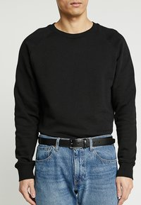 Burton Menswear London - TEXT BUCKLE - Vyö - black - 1