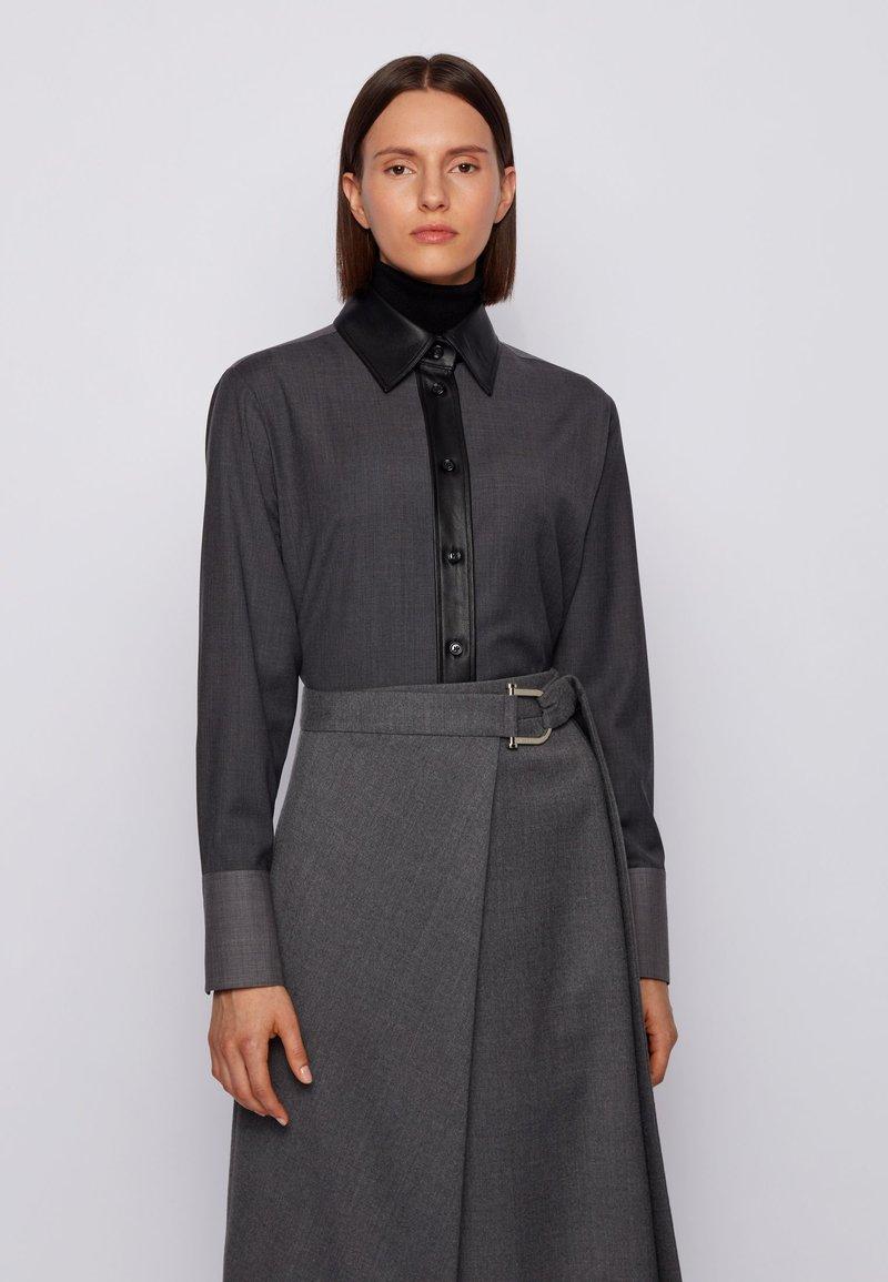 BOSS - BELUTA - Button-down blouse - grey
