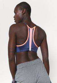 Nike Performance - INDY PRO BRA - Light support sports bra - bright mango/white/midnight navy/metallic silver - 3