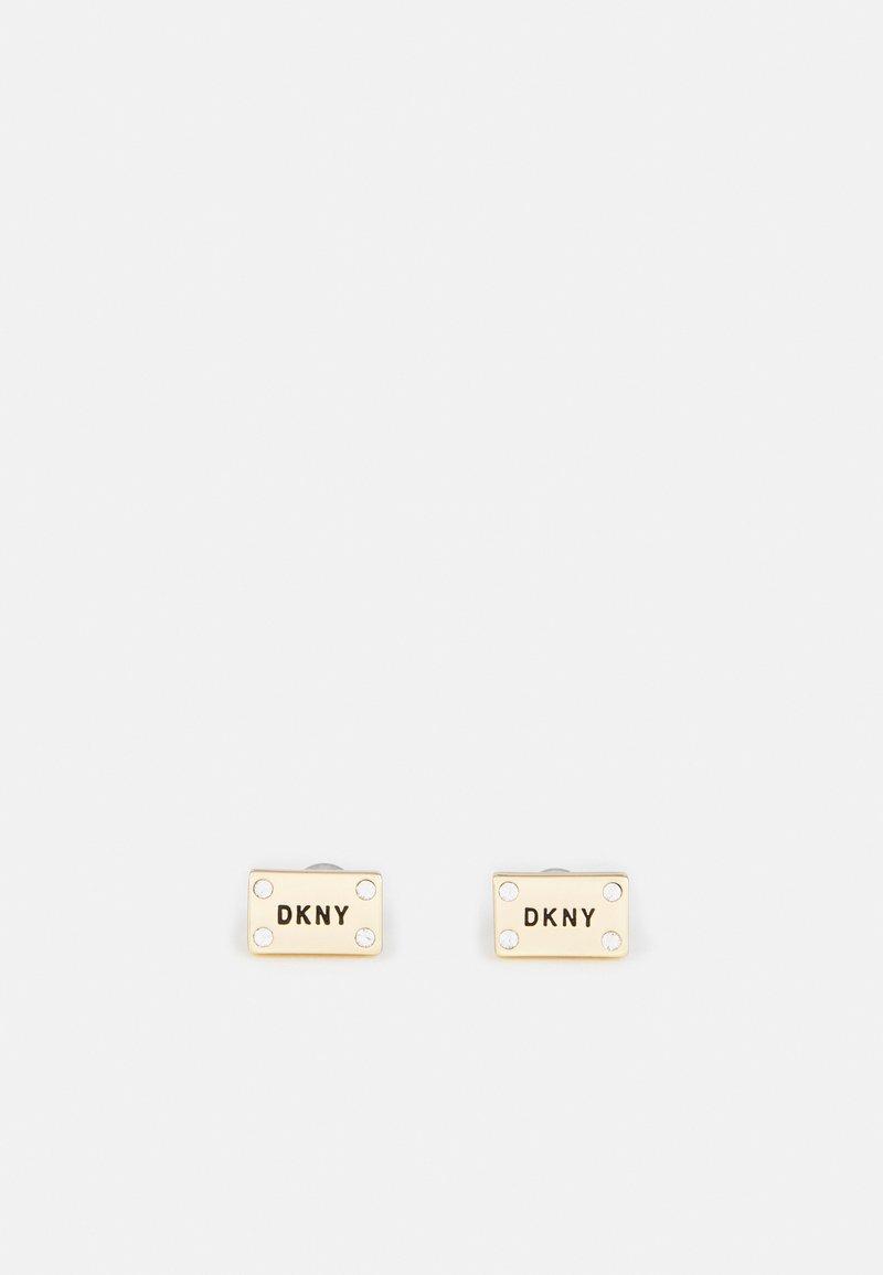 DKNY - LOGO STUD - Earrings - gold-coloured
