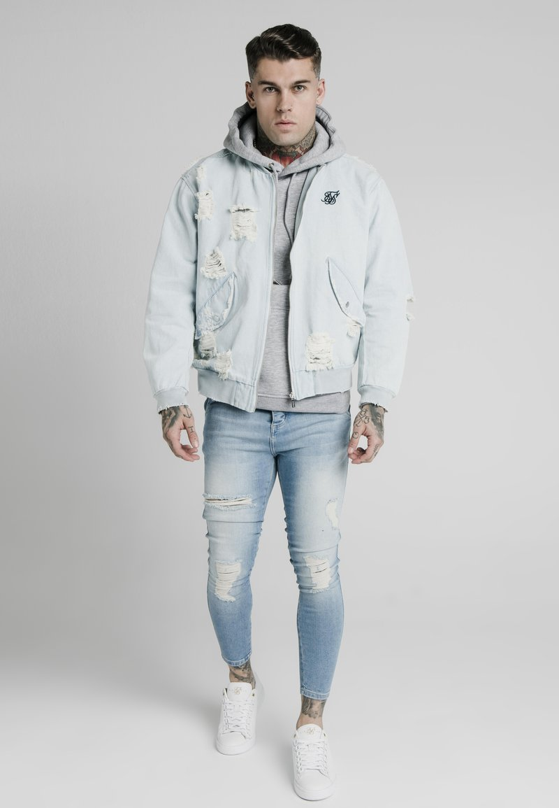 SIKSILK - Chaqueta vaquera - light blue