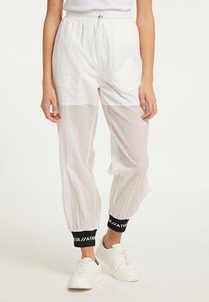 Teplákové kalhoty - weiß rosa