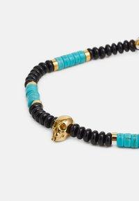 Northskull - SKULL MACRAMÉ BRACELET UNISEX - Bransoletka - black/turquoise/gold-coloured - 3