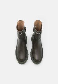 Zign - LEATHER - Platform ankle boots - khaki - 5
