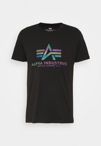 Alpha Industries - BASIC - T-shirt print - black - 3
