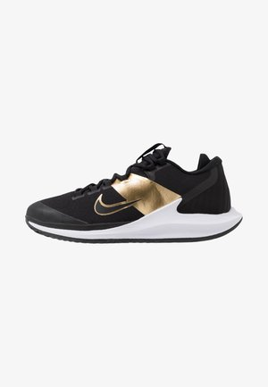 COURT AIR ZOOM - Multicourt tennis shoes - black/metallic gold/white