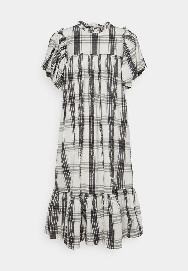 PEN - Day dress - creme check