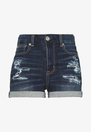 CURVY SHORTIE - Denim shorts - dark rich indigo