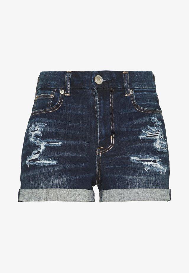 CURVY SHORTIE - Shorts vaqueros - dark rich indigo