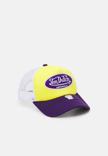 TRUCKER BASKETBALL UNISEX - Cap - yellow/purple/white