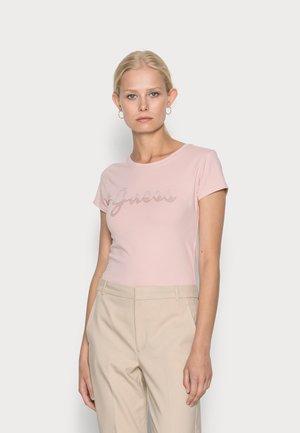 SPLIT SCRIPT LOGO - T-shirt imprimé - pretty in pink