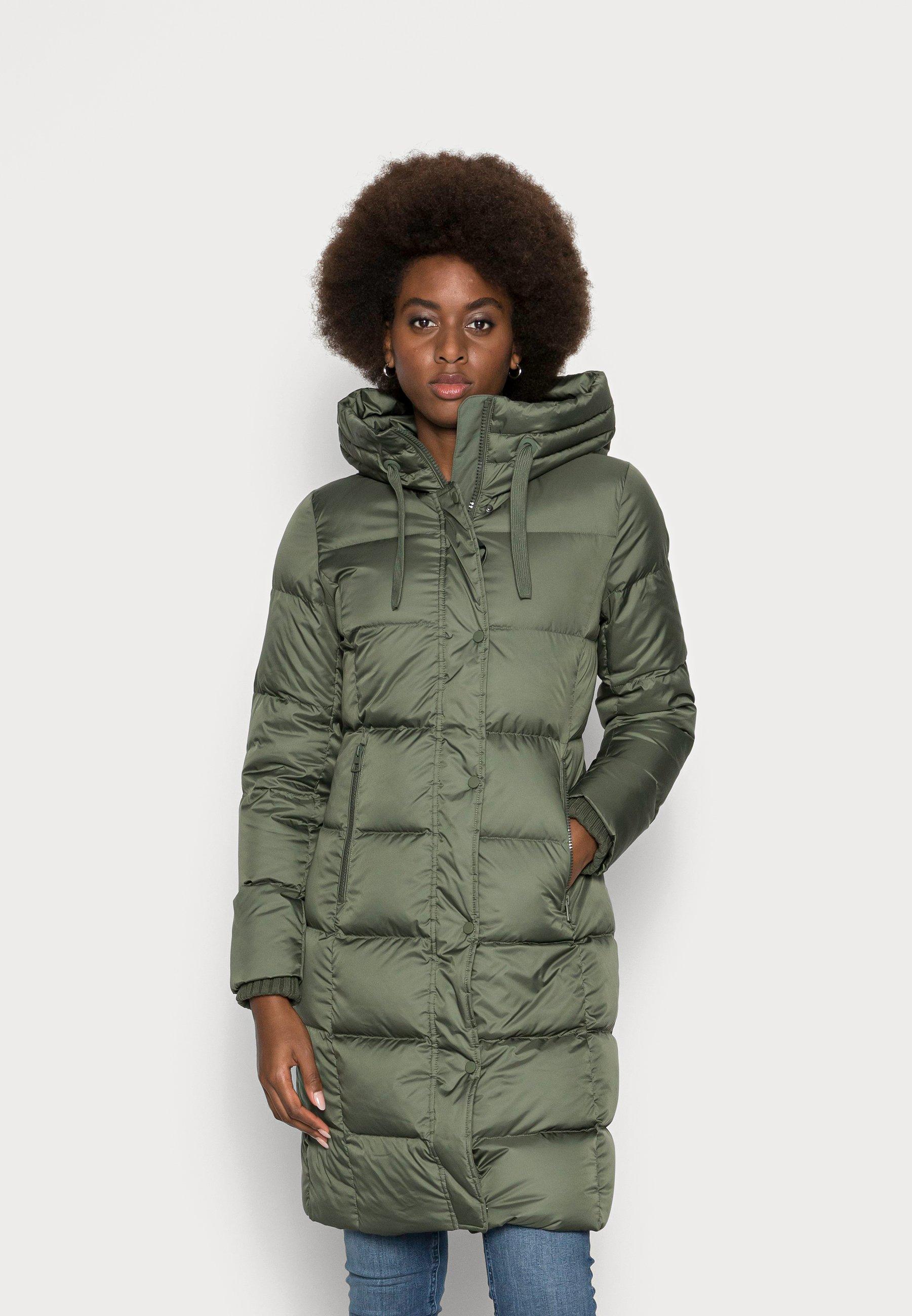 Damen COAT LONG FIX HOOD WITH DRAWSTRING ZIPPER  - Daunenmantel