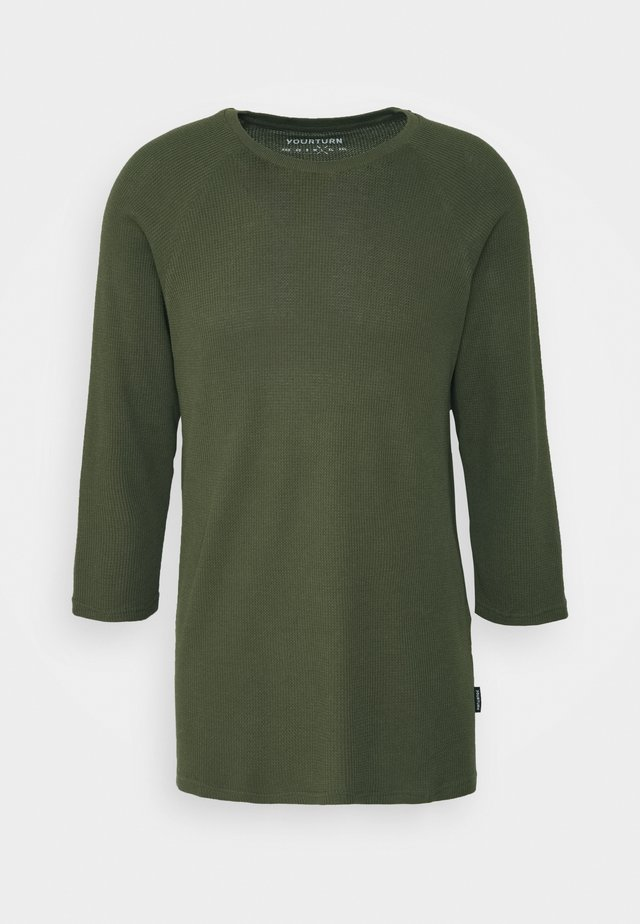 UNISEX - Long sleeved top - olive